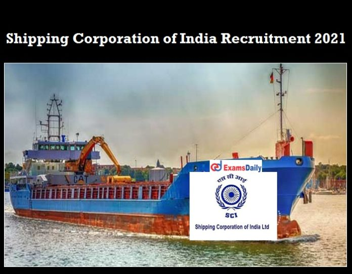Shipping Corporation of India Recruitment 2020 OUT