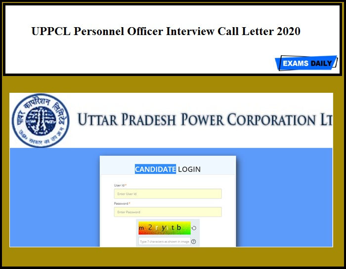 UPPCL Personnel Officer Interview Call Letter 2020