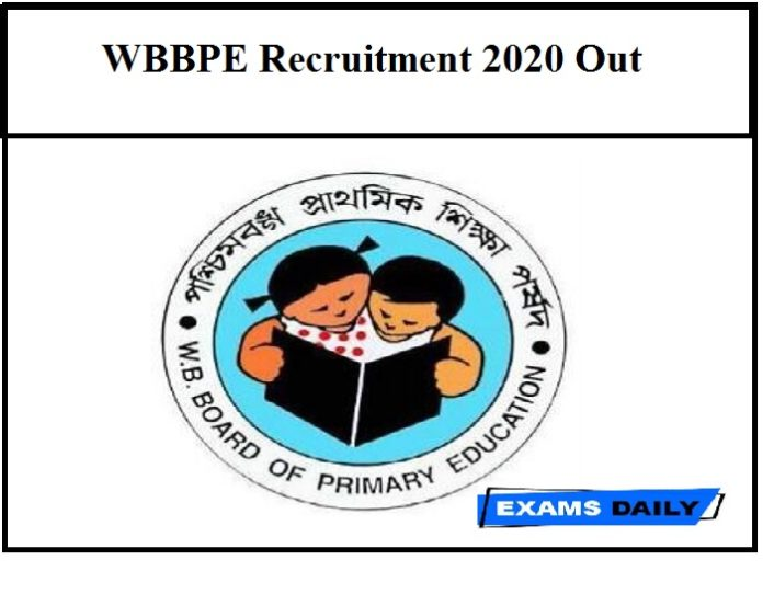 WBBPE Recruitment 2020 Out