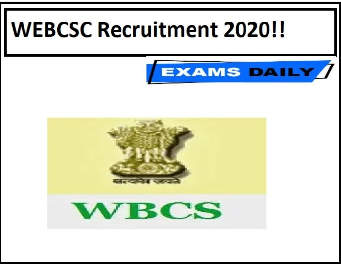 WEBCSC Recruitment 2020