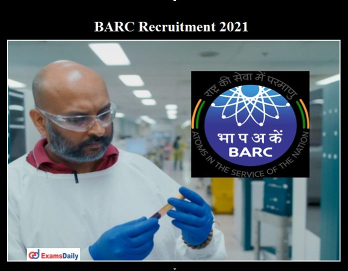 BARC Medical Officer Recruitment 2021 OUT