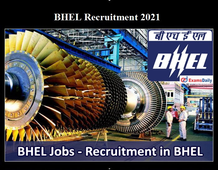 BHEL Young Professional Recruitment 2021 OUT