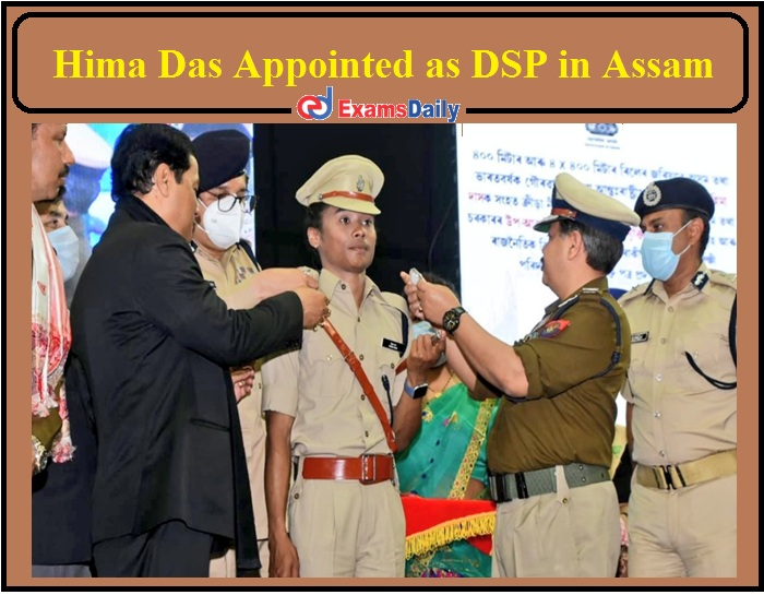 Hima Das Appointed as DSP in Assam Today- Check Details Here!!!