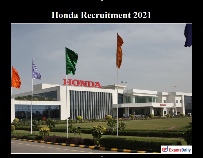 Honda Recruitment 2021 OUT traffic assistant (1)