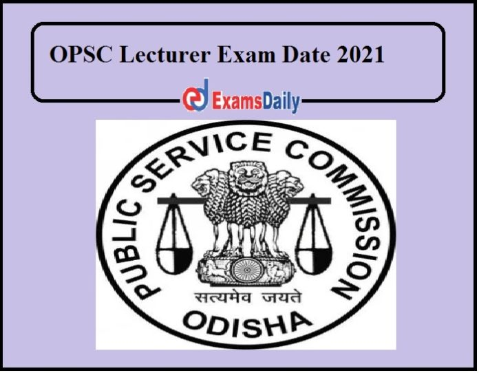 OPSC Lecturer Exam Date 2021