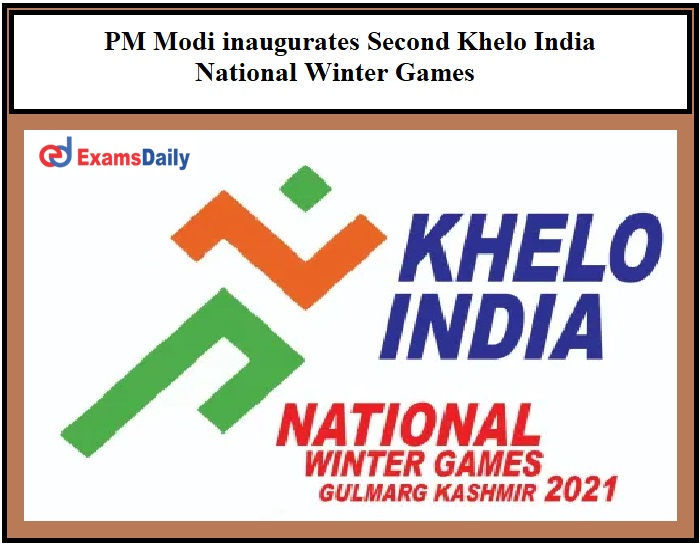 PM Modi inaugurates Second Khelo India National Winter Games Virtually through Video Conferencing!!!