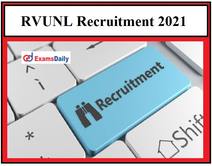 RVUNL Recruitment 2021 OUT - 1200+ Stenographer and Other Vacancies Graduates can apply!!!
