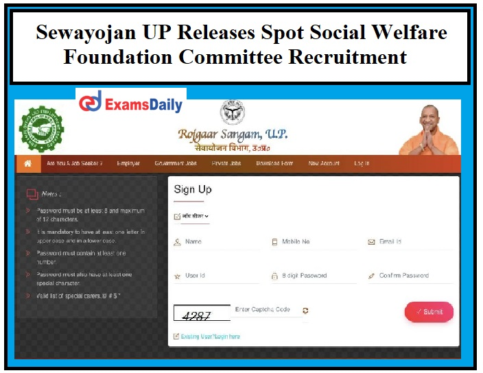 Sewayojan UP Releases Spot Social Welfare Foundation Committee Recruitment