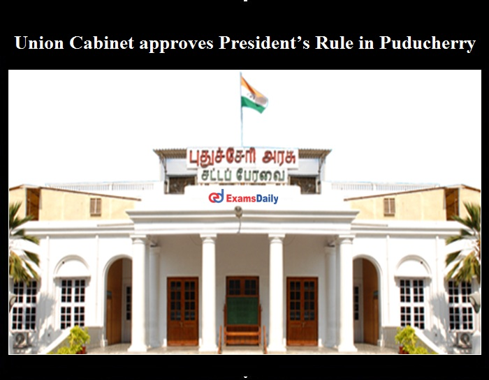 Union Cabinet approves President