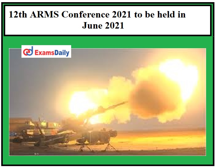 12th ARMS Conference 2021 to be held in June 2021, Organizes by INSARM!!!