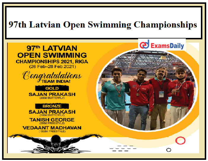 97th Latvian Open Swimming Championships 2021 Concludes, Team India wins Gold!!!