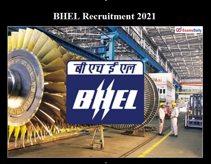 BHEL Haridwar Recruitment 2021 OUT