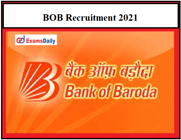 BOB Recruitment 2021 OUT – Apply for Business Correspondent Supervisor Vacancies Any Degree Holders Can Apply!!