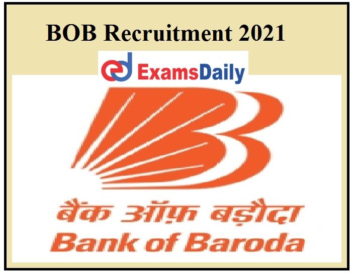 BOB Recruitment 2021 Released - Degree Graduates Can Apply
