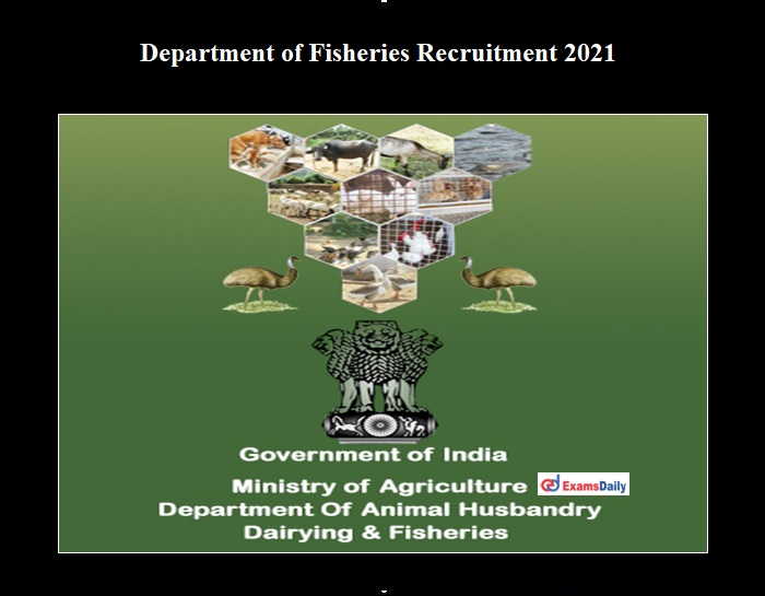 Department of Fisheries Recruitment 2021 OUT