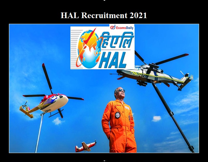 HAL Recruitment 2021 OUT