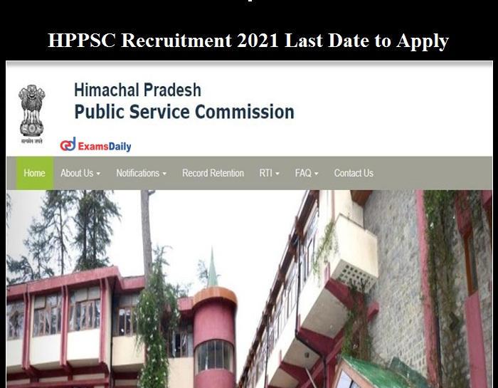 HPPSC Recruitment 2021 Last date to Apply for HDO