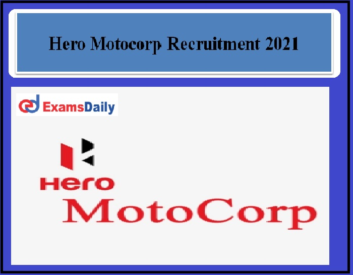 Hero Motocorp Recruitment 2021 OUT –Sales Job Apply Here
