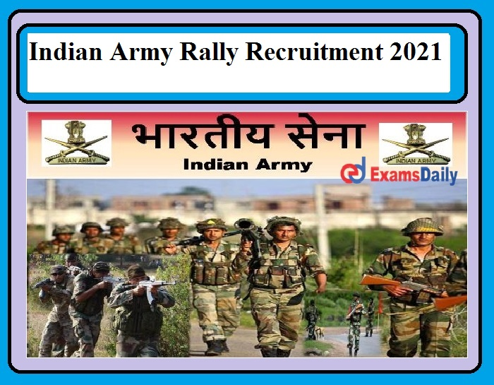 Indian Army Really Recruitment 2021 Released – Various Vacancies in Soldier Posts Apply Here