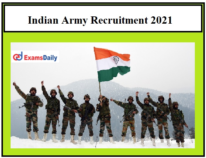 Indian Army Recruitment 2021 OUT - Sepoy 'D' Pharma Vacancies 10+2 Pass can Apply!!!