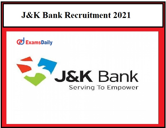 J&K Bank Recruitment 2021 OUT - JK BANK RSETI Notification 48 Office Assistant & Other Posts!!!