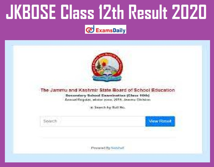 JKBOSE Class 12th Result 2020 Out – Download Marks for Kashmir Division Here!!!