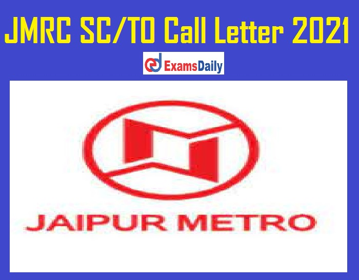JMRC SC TO Call Letter 2021 Out – Download Interview Date @ transport.rajasthan.gov.in!!!