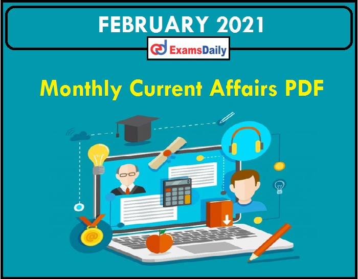Monthly CA of February 2021