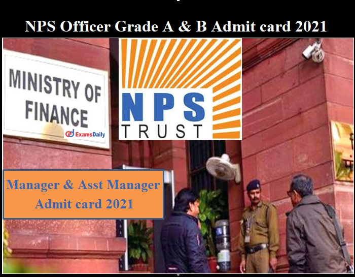 NPS Admit card 2021 OUT