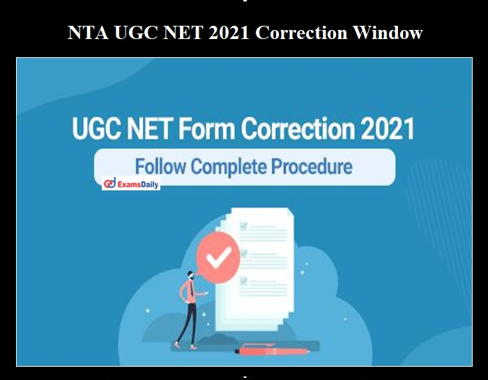 NTA UGC NET Correction Date 2021 OUT