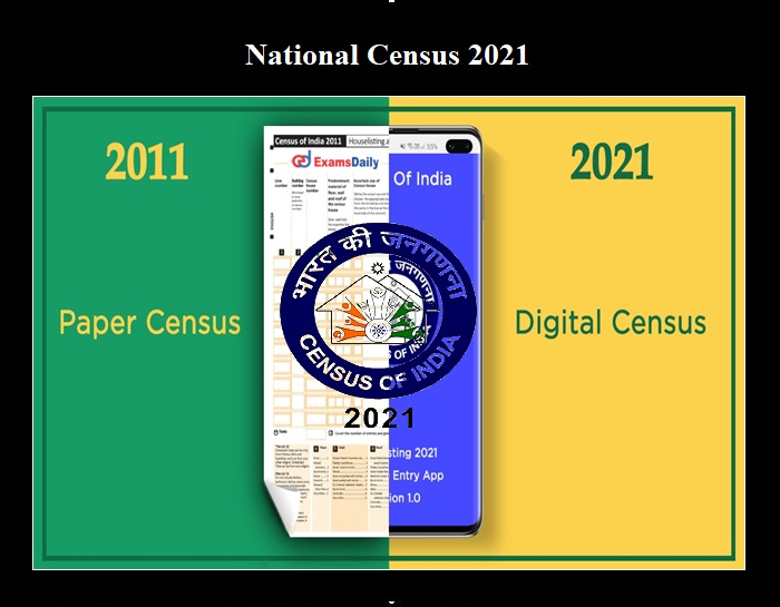National Census 2021 through Online