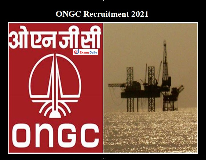 ONGC Recruitment 2021 OUT