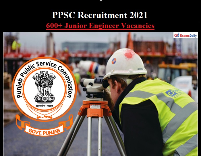 PPSC JE Recruitment 2021 OUT