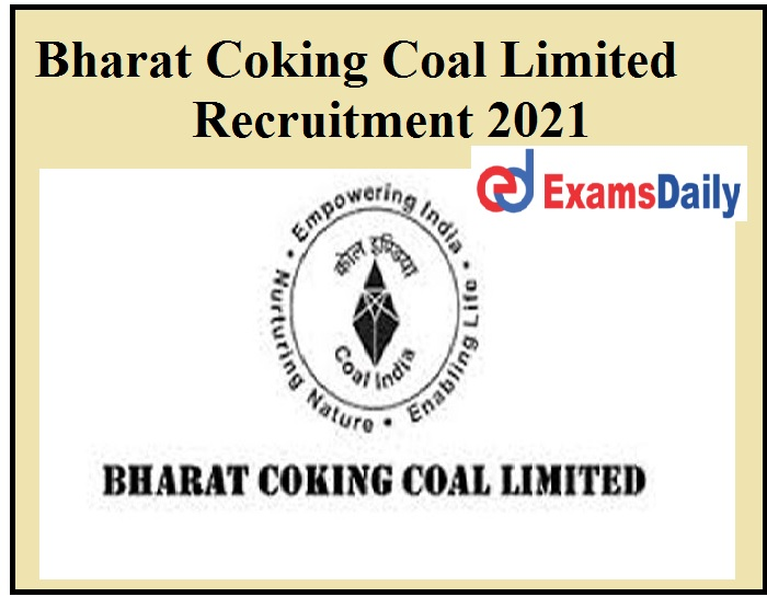 PSEB Release Bharat Coking Coal Limited Recruitment 2021 OUT - Engineering Candidates Can Apply!!