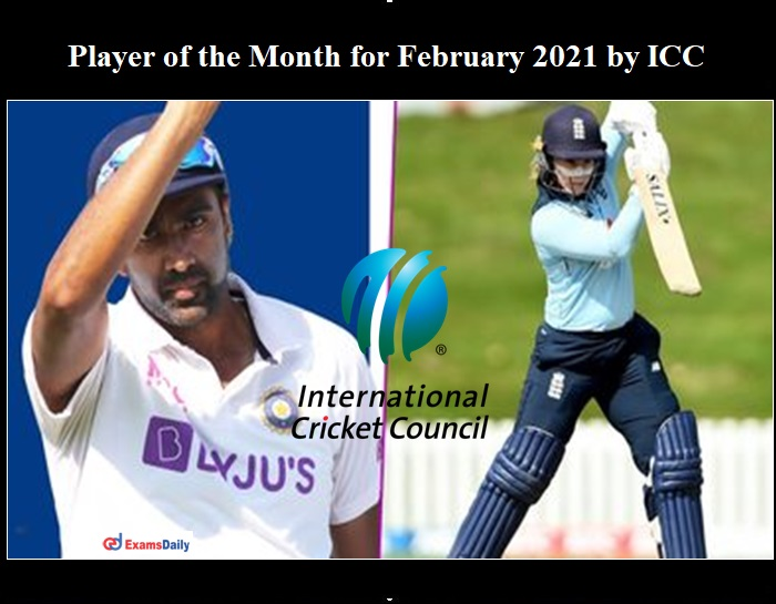 Player of the Month for February 2021 by ICC