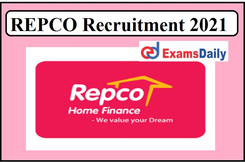 REPCO Recruitment 2021