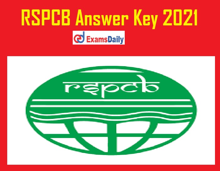 RSPCB Answer Key 2021 (Out) – Check JEE, JSO Solution Key & Cut off @ environment.rajasthan.gov.in!!!