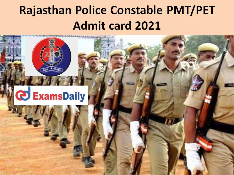 Rajasthan Police Constable PMT