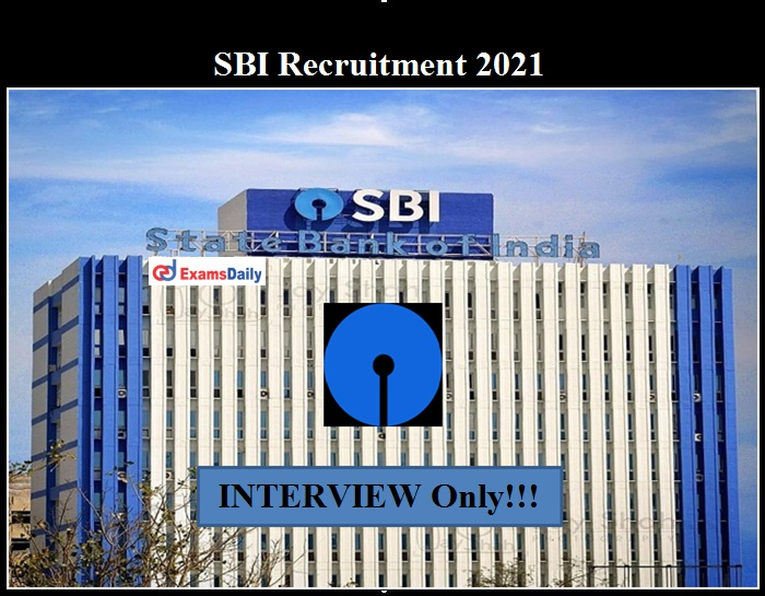 SBI Channel Manager Facilitator Recruitment 2021 OUT