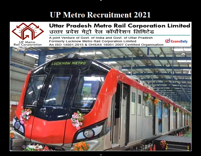 UP Metro Recruitment 2021 OUT
