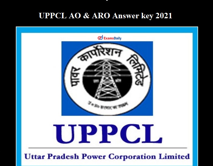 UPPCL ARO Answer key 2021 OUT