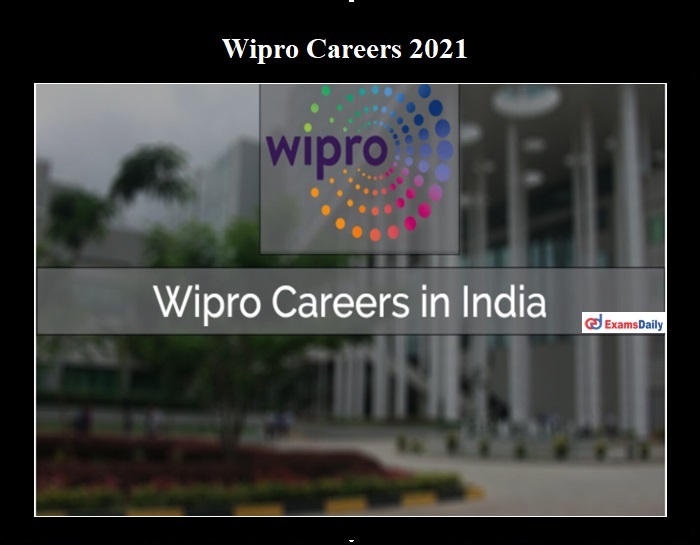 Wipro Careers 2021 OUT