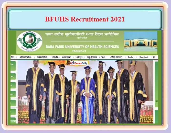 BFUHS Recruitment 2021 OUT – For CHO Post - Download Notification PDF and Apply Online!!!