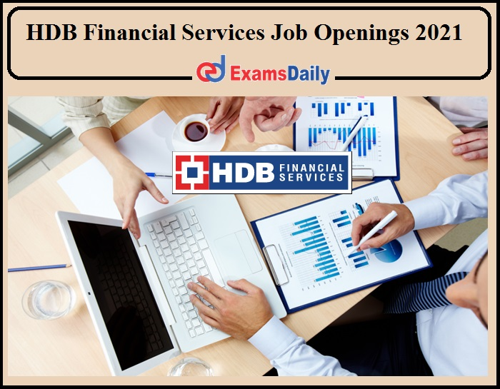 HDB Financial Services Job Openings 2021 Available!!!