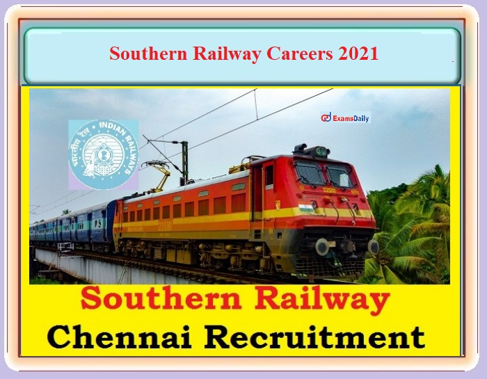 Southern Railways Job Vacancies 2021 OUT – Online Interview For TGT Posts - Download SR Notification PDF and Apply!!!